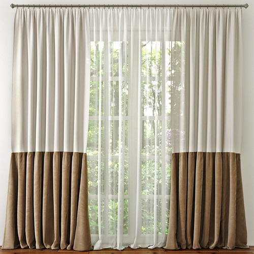3d model window curtain cgtrader