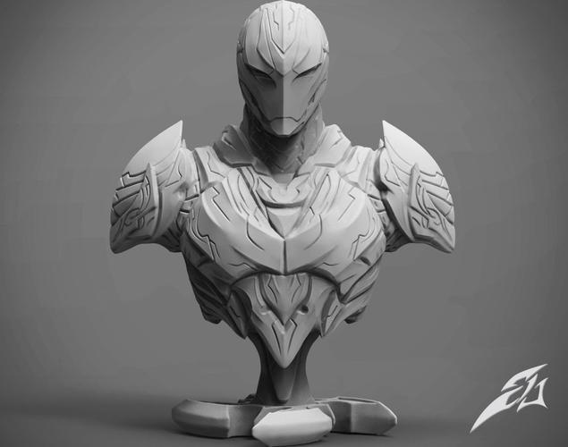 the dark armor bust 3d model stl 1