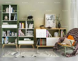 Modern Furniture Set bed chair 3D model