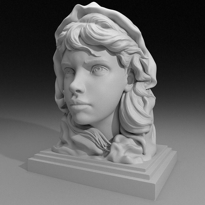 3dprinting Art Sculpture: Fishermans Daughter 3D Print Model