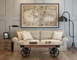 shelf Modern Furniture Set 3D model
