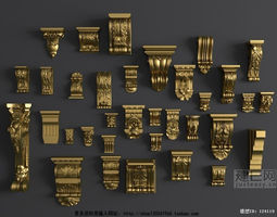 3D model Luxurious Architectural Decorations luxury