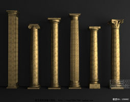 Luxurious Architectural Decorations 3D model interior