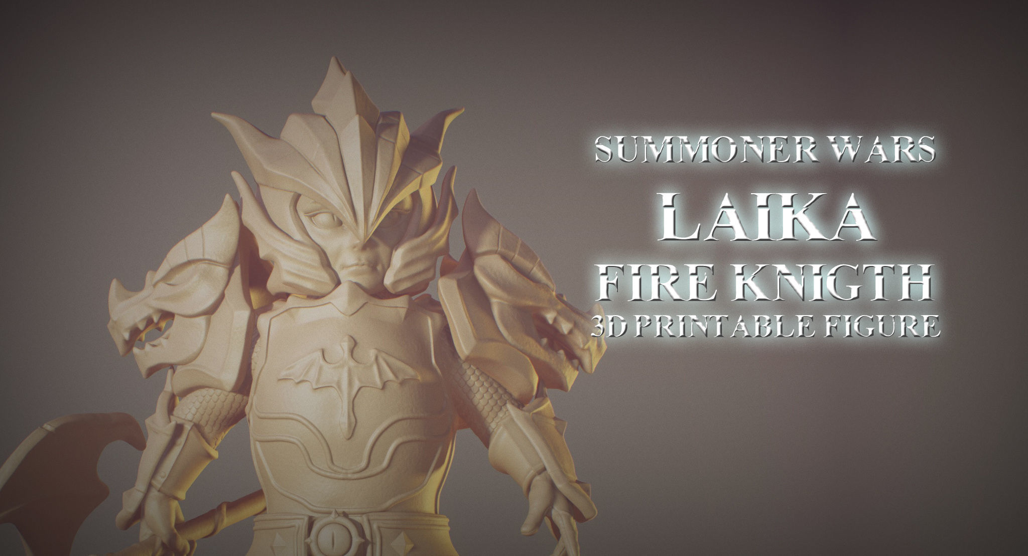Laika Dragon Fire Knigth from Summoner Wars 3D printable figure