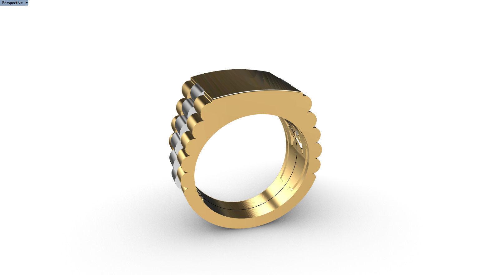 Men ring  Wight yellow gold