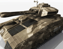 cdf plasma battle tank 3d model