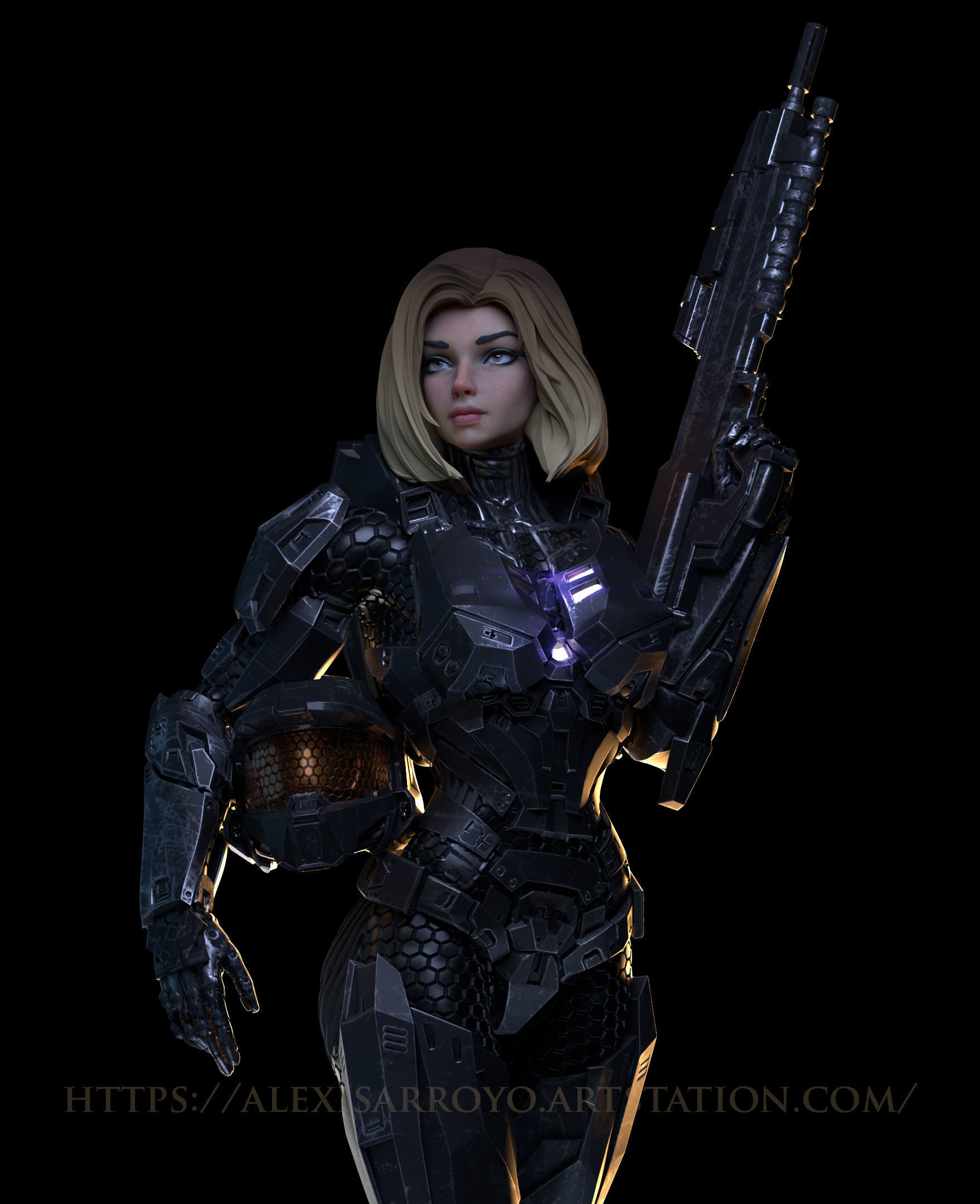 Female Halo Spartan Armored