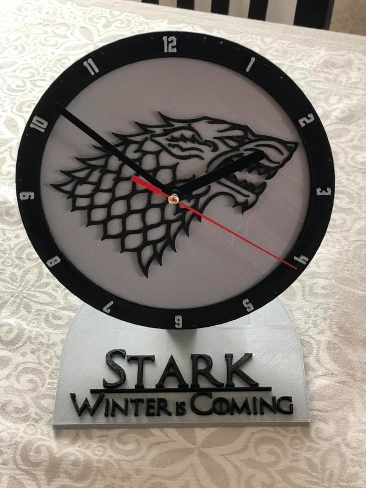 House Stark office Clock
