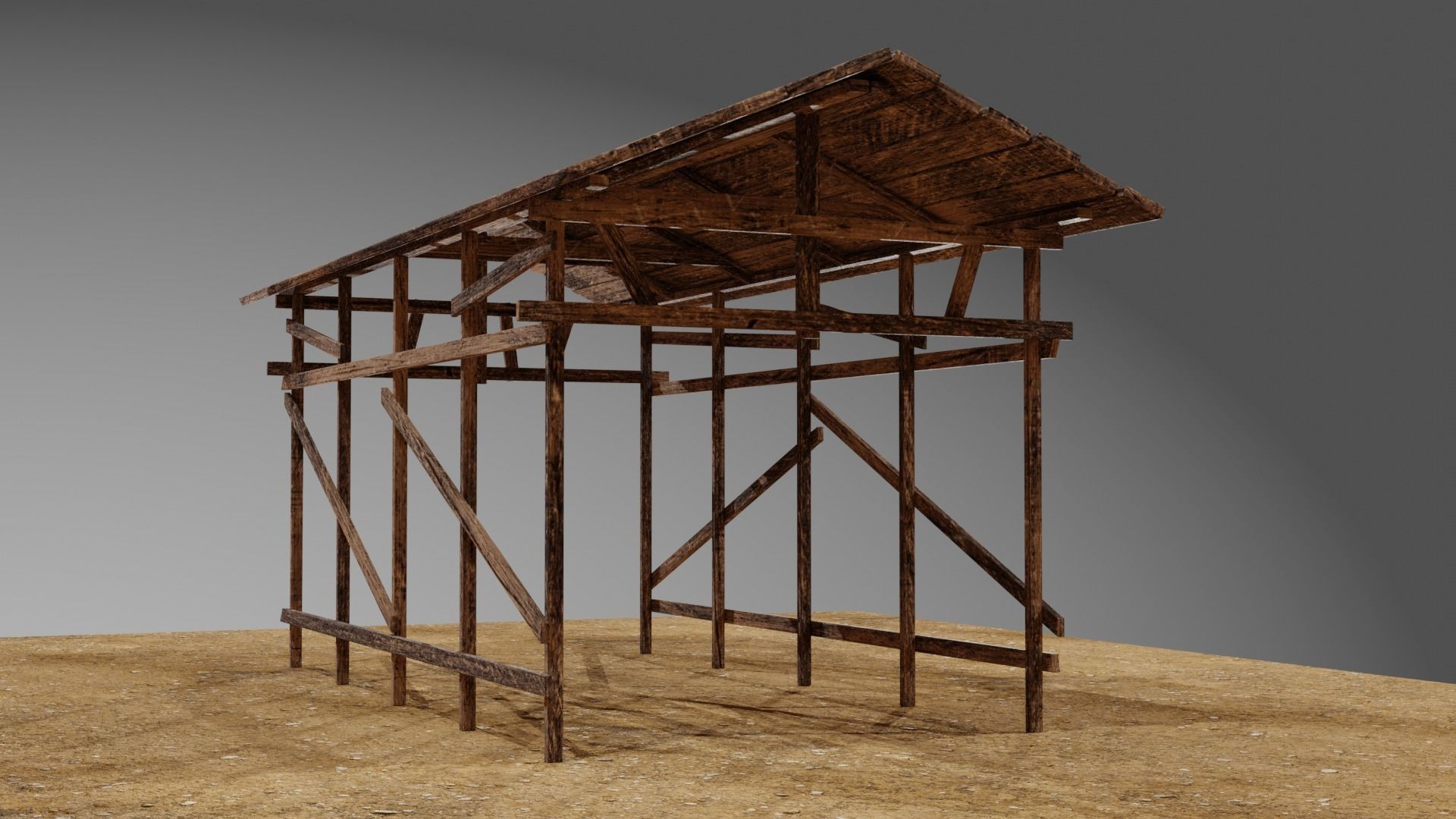 Wooden Shed or Shelter