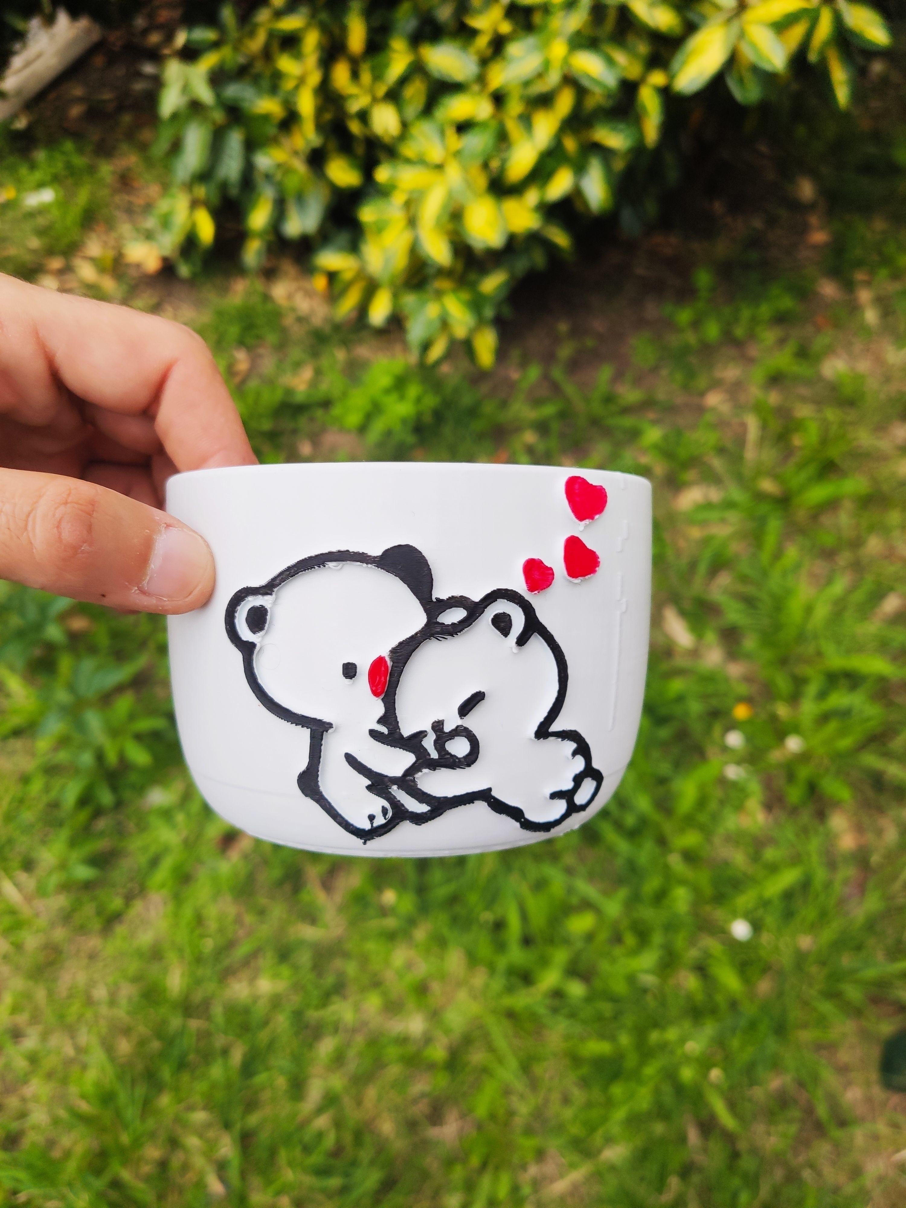 pot bear and emoji
