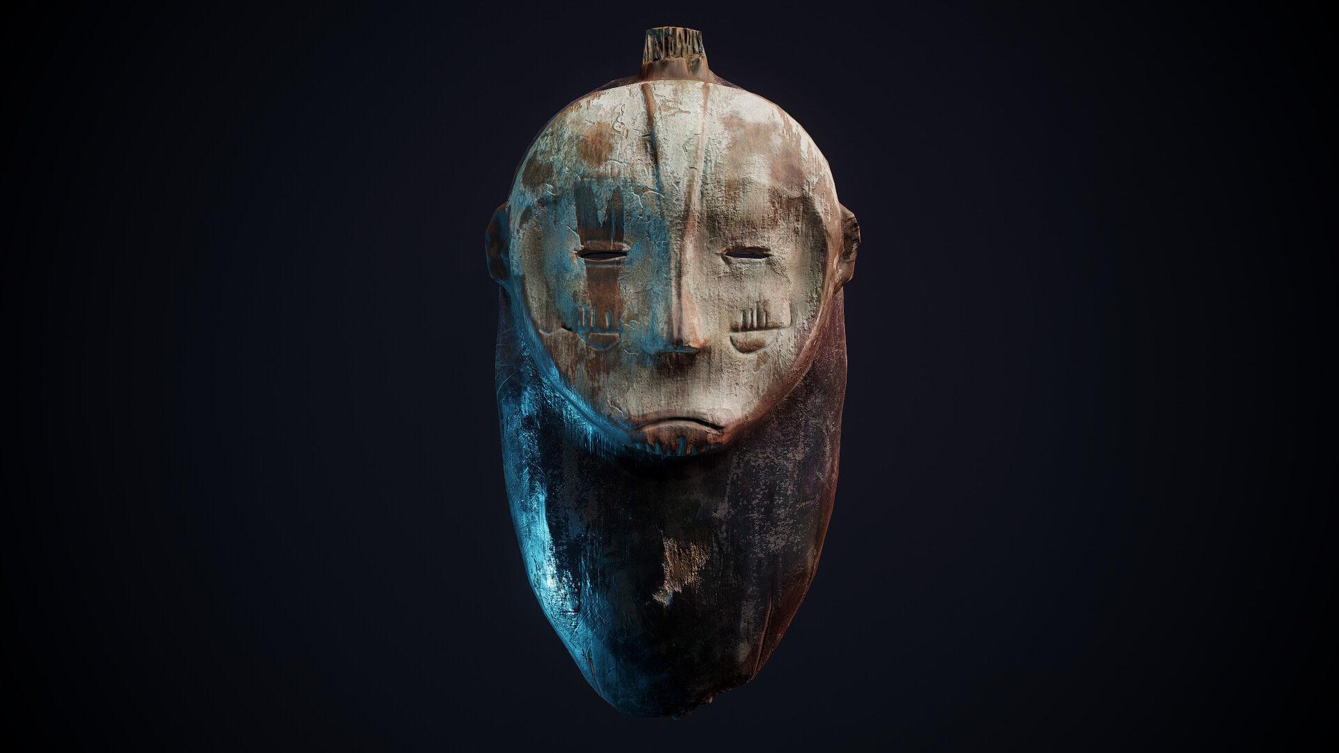 Old Tunisian Ritual Mask