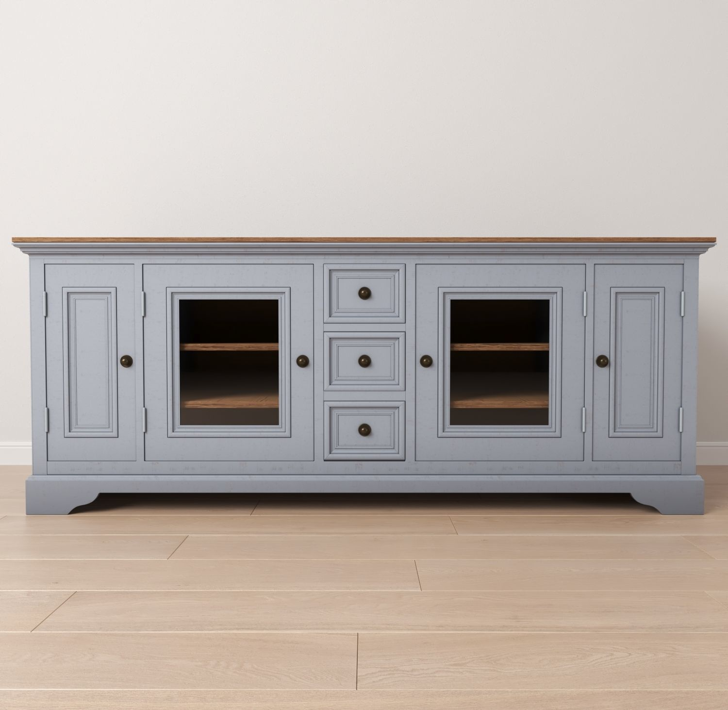 3d Model Rustic Entertainment Center Cgtrader