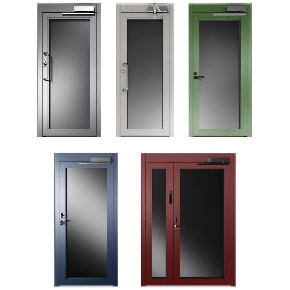 Metal swing fire doors