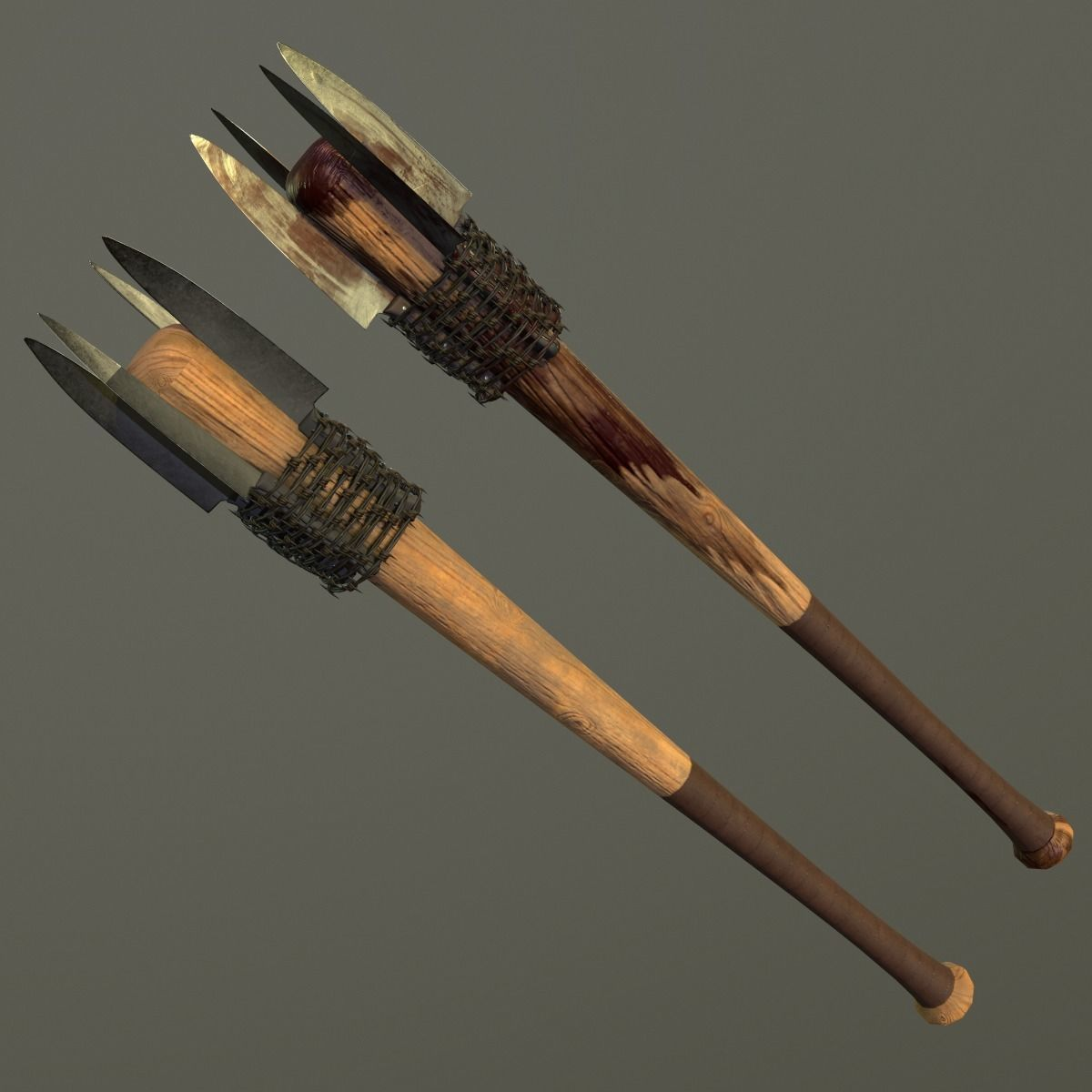 Baseball bat with KNIFES and BARBED