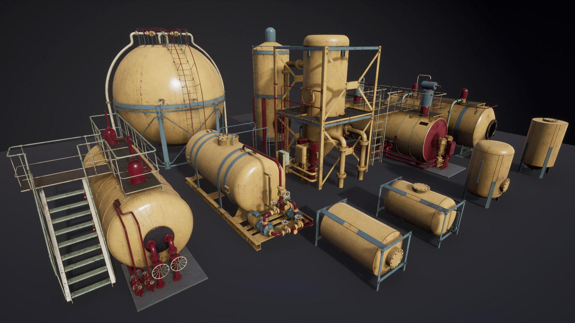 Liquid storage pack for Unreal engine
