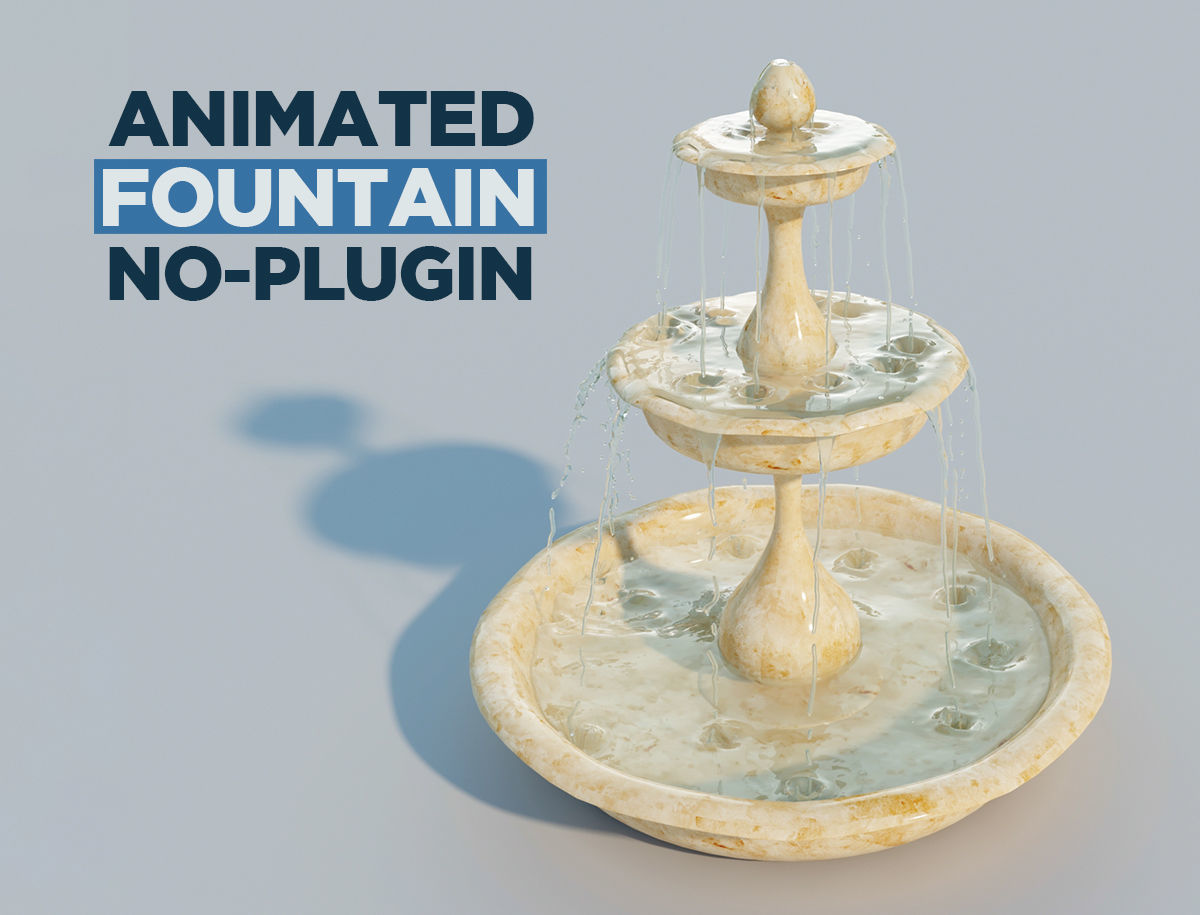 Water fountain with 10 seconds of flowing water