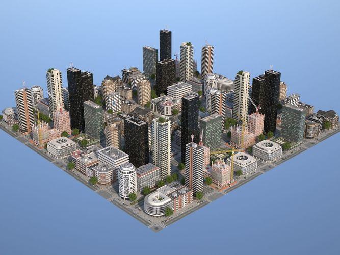 city kc9 3d model max obj mtl 3ds fbx c4d lwo lw lws 1