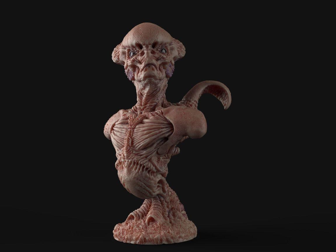 Alien Bust inspired in Giger