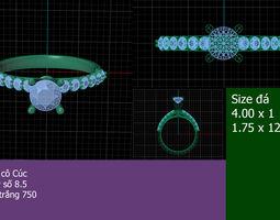 Otnho - diamond ring - 01 3D printable model
