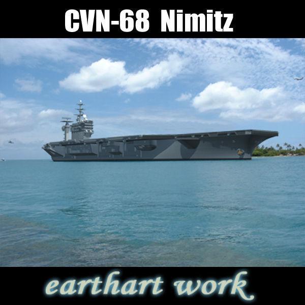 USS CVN 68 Nimitz aircraft carrier