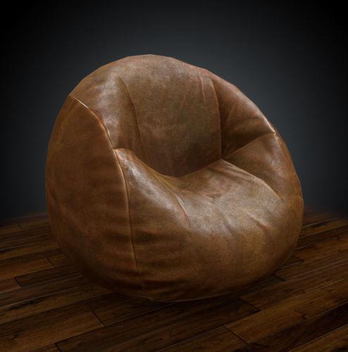 bean bag 3d model low-poly obj fbx ma mb mtl tga 1