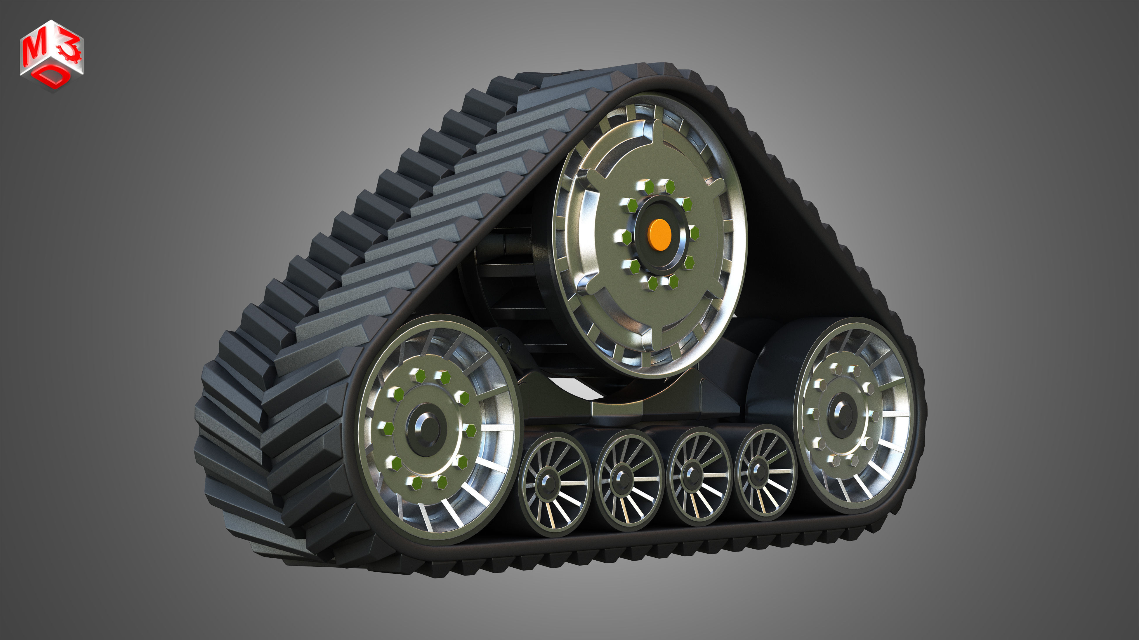 Rubber Track System 2 - Combine Harvester - Crawler Tractor