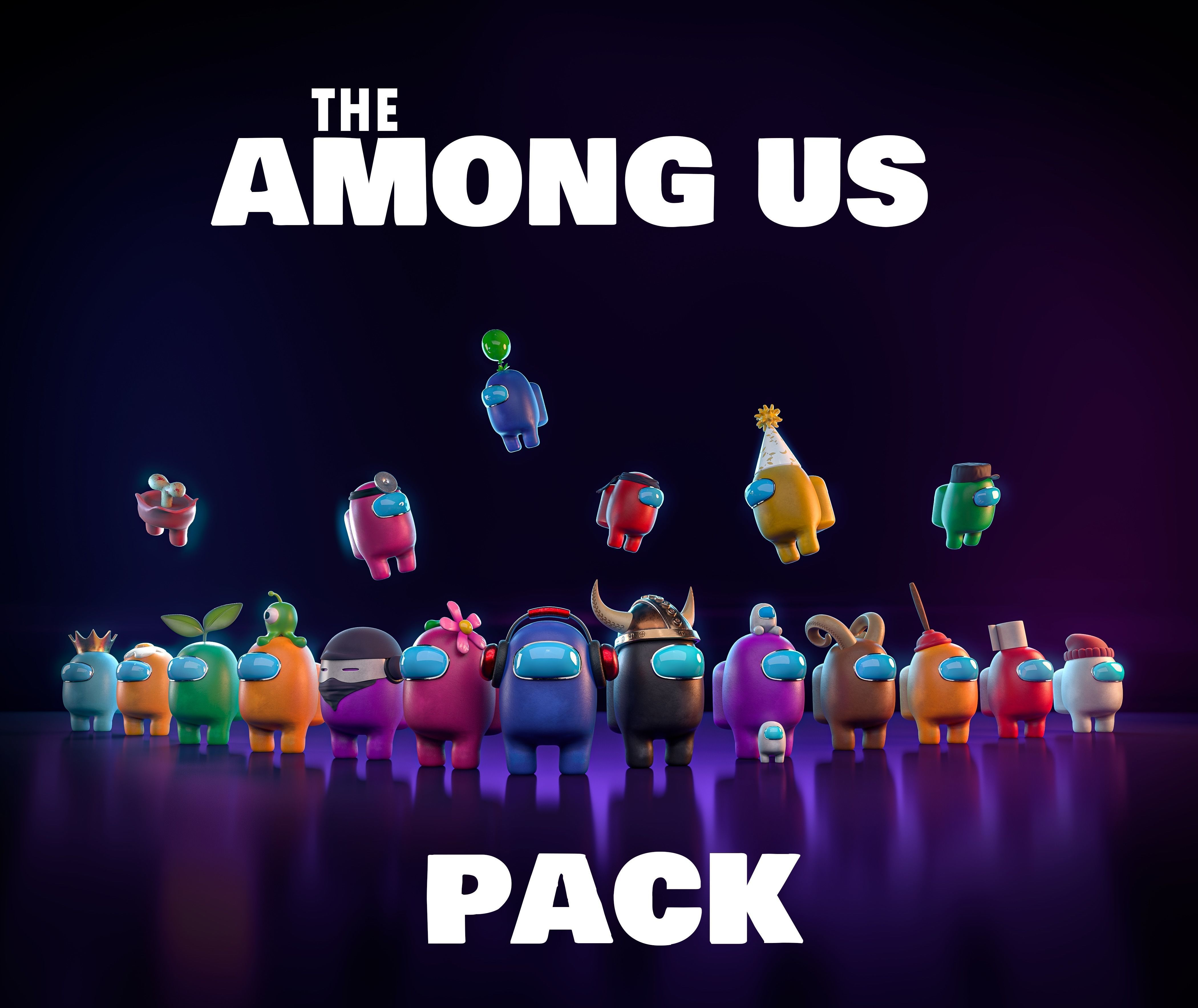 Among Us 3D pack -PBR