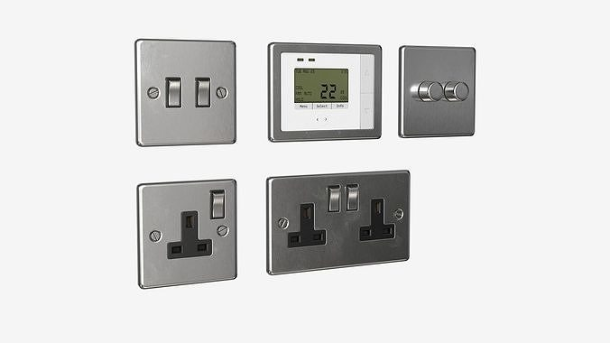 Power outlet and switches set