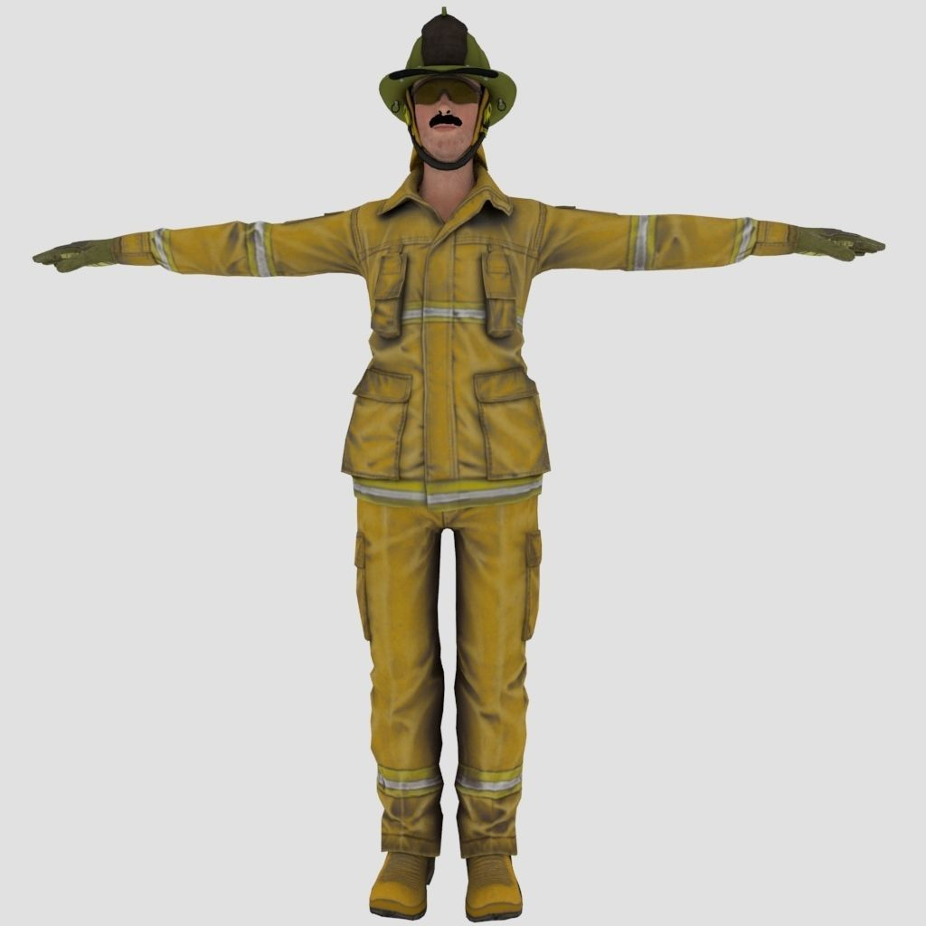 Fire Fighter character