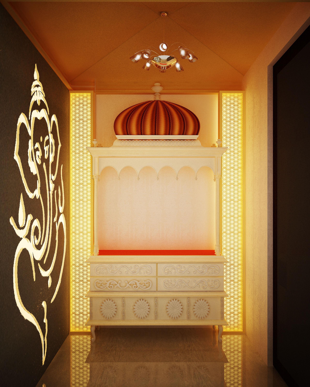 3d Interior Room Design: Indian Pooja Room 3D Model