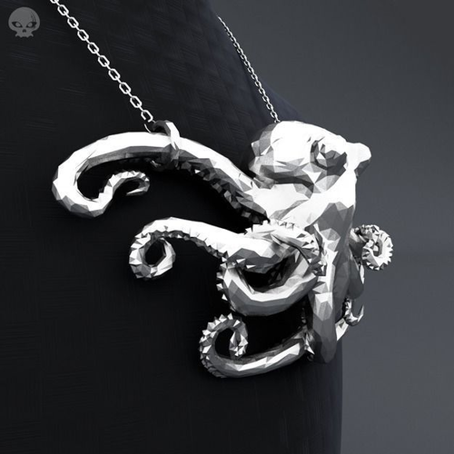 Polygon octopus pendant 3d printable model cgtrader polygon octopus pendant 3d model obj stl 1 mozeypictures Choice Image
