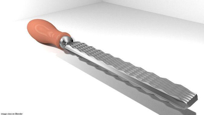 craftsman handtools - rasp 3d model obj mtl 3ds lwo lw lws blend dae 1