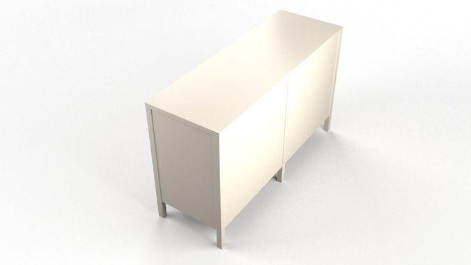 niche 6drawer dresser white 3d model