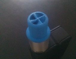 3d print model wide bore drip tip with spiral insides