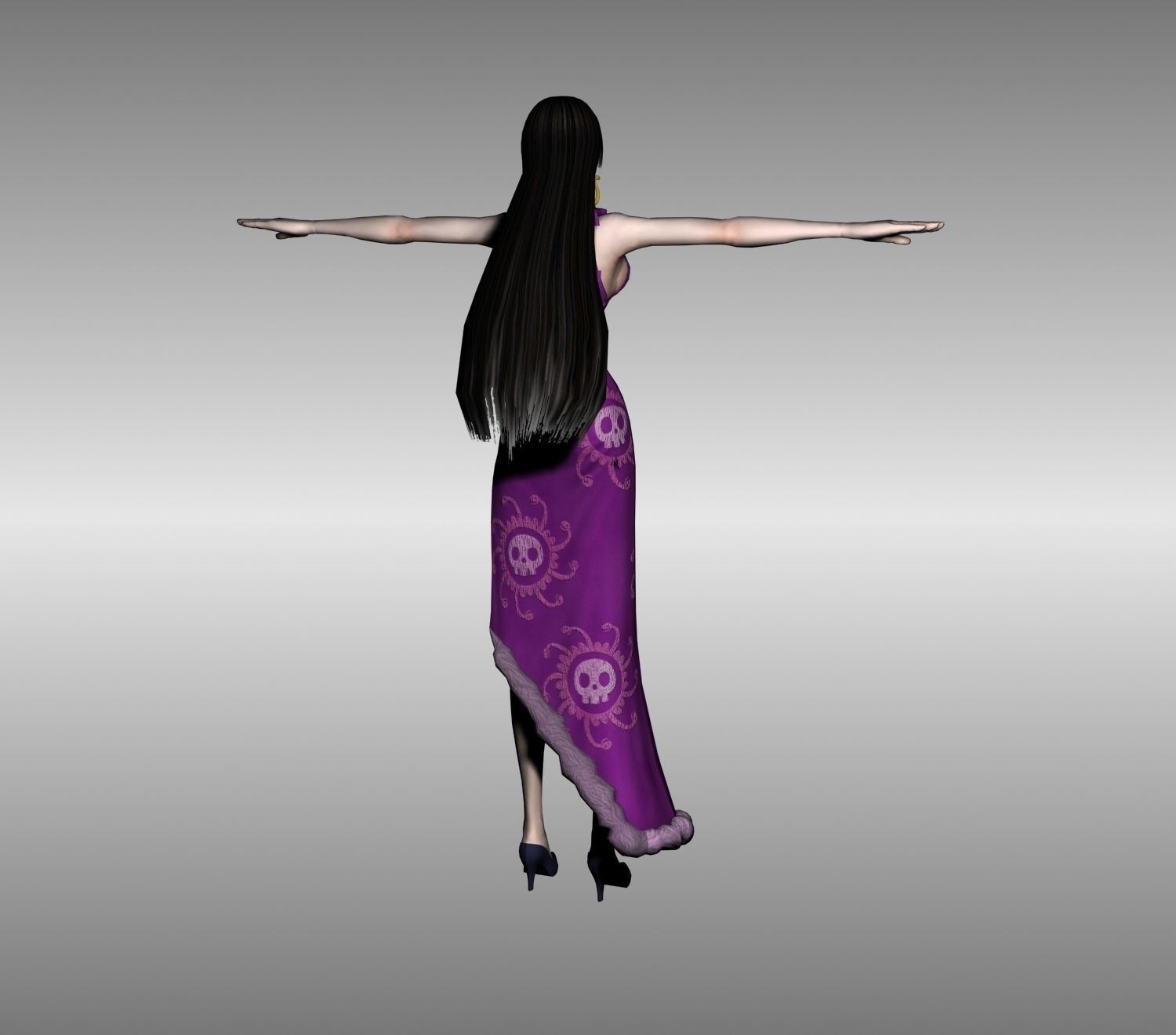 Boa Hancock One Piece 3D Model Rigged MAX 3DS FBX