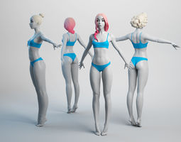 Female Basemesh 03 3D model low-poly