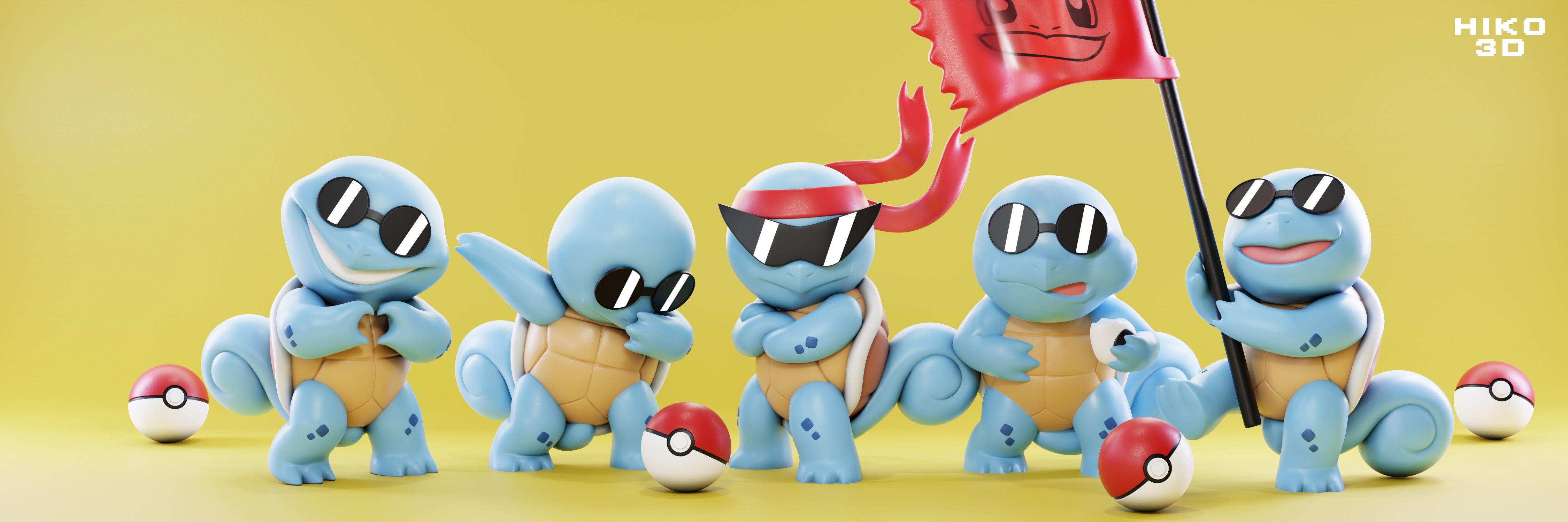Squirtle Squad - Pokemon toys - Fan Art -