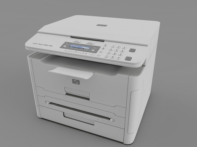 Laser printer hp 3d model cgtrader 3d printer models free