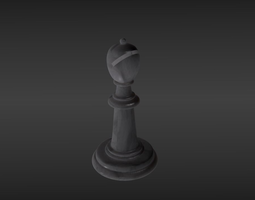 Chess piece bishop 3D model