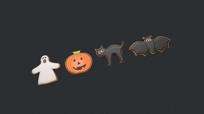 Halloween Cookies - Cat - Bat - Ghost - Pumpkin