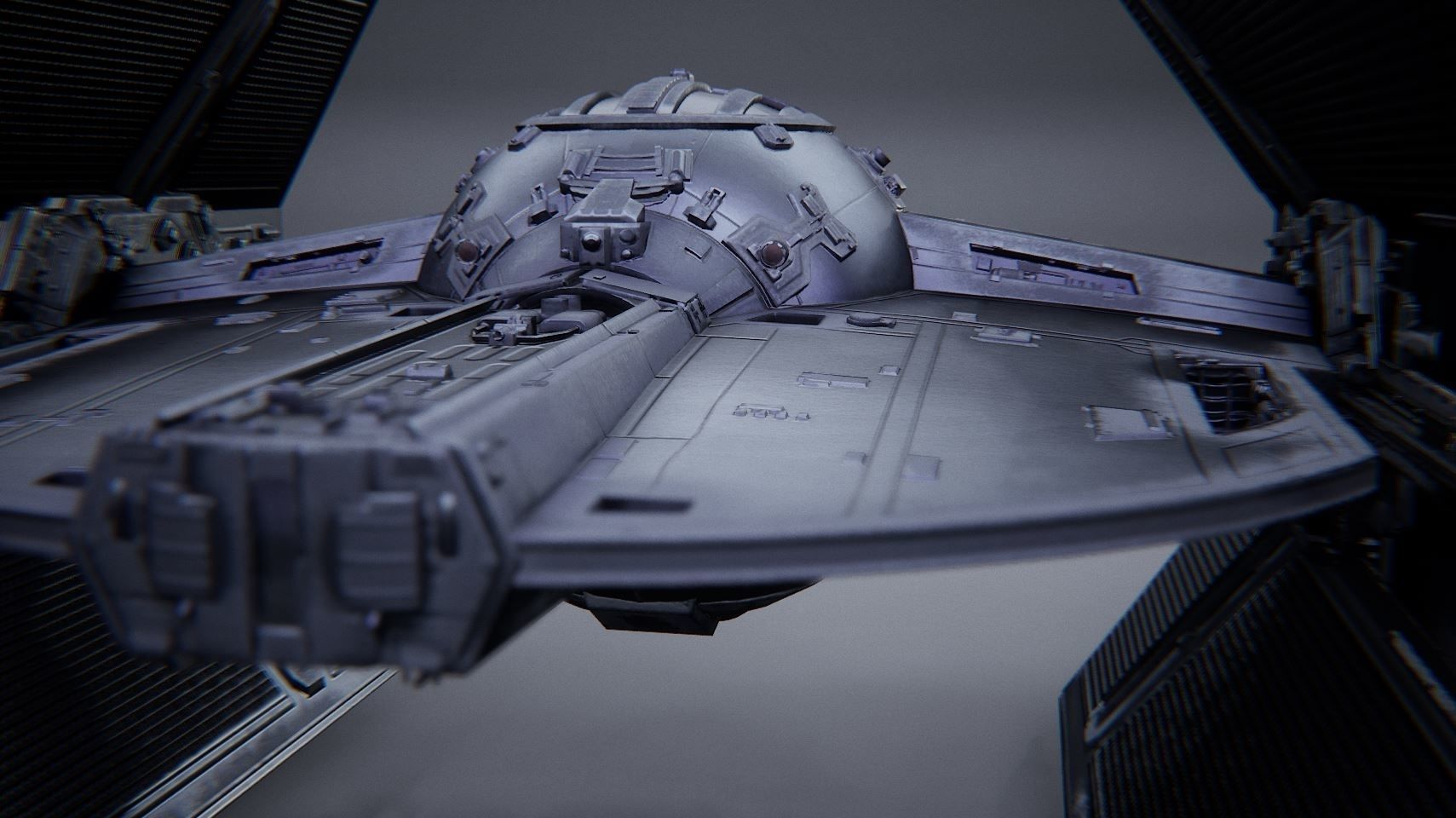 TIE Advanced X1 - Rigged - Game Ready -