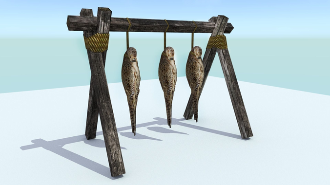 hanging birds 3d model low-poly rigged animated obj mtl 3ds fbx blend X ms3d 1