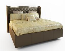 HOLLYWOOD SWANK UPHOLSTERED BED 3D model