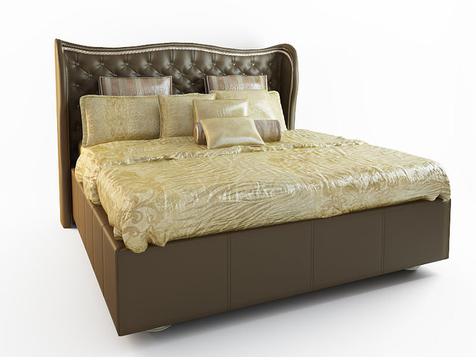 Hollywood Swank Upholstered Bed 3d Model Max 1