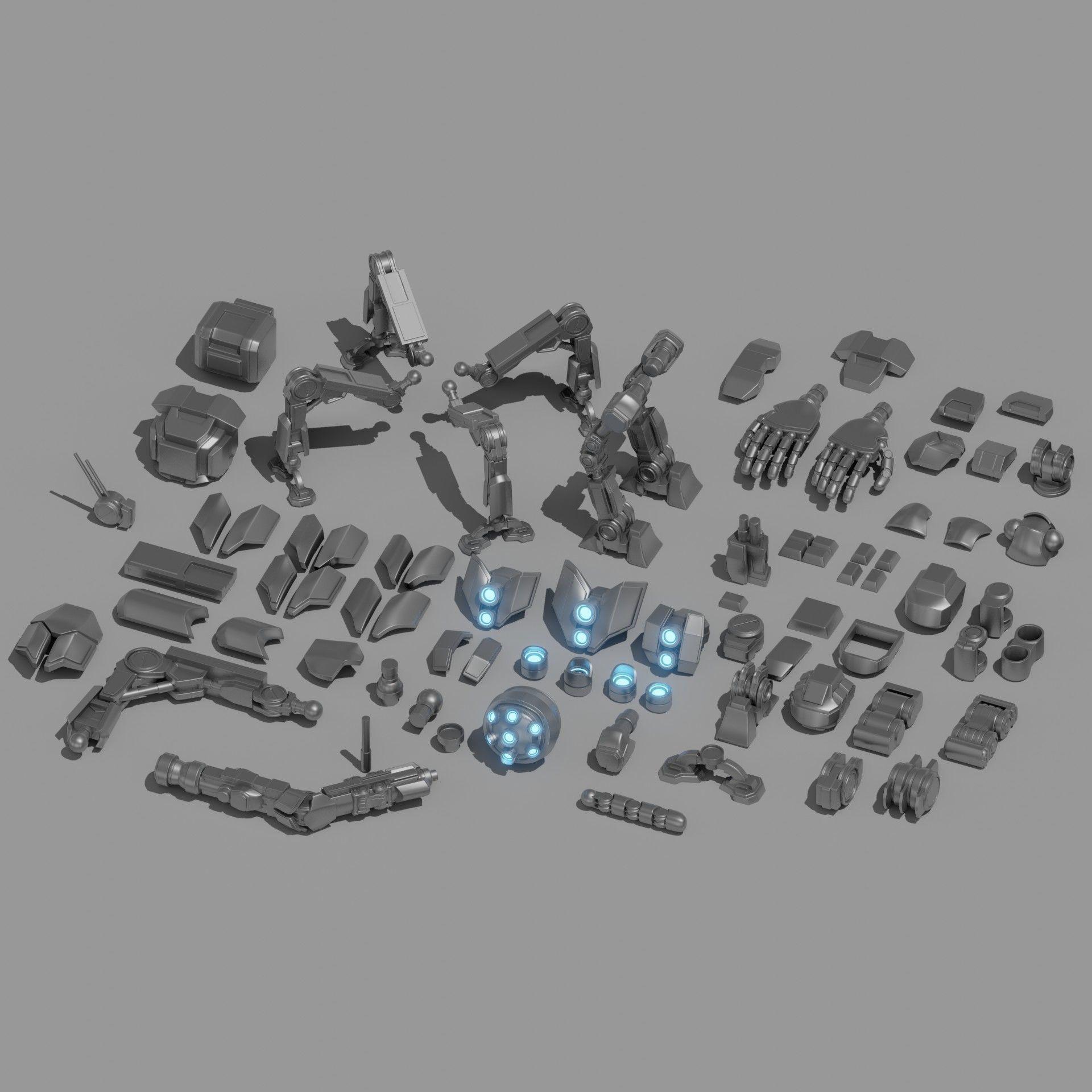 Robot Parts Kitbash Pack