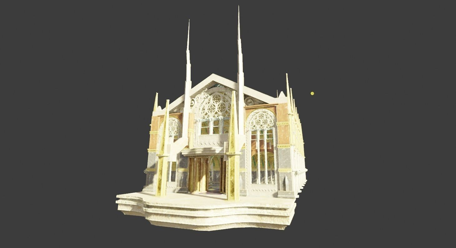medieval church with pbr textures