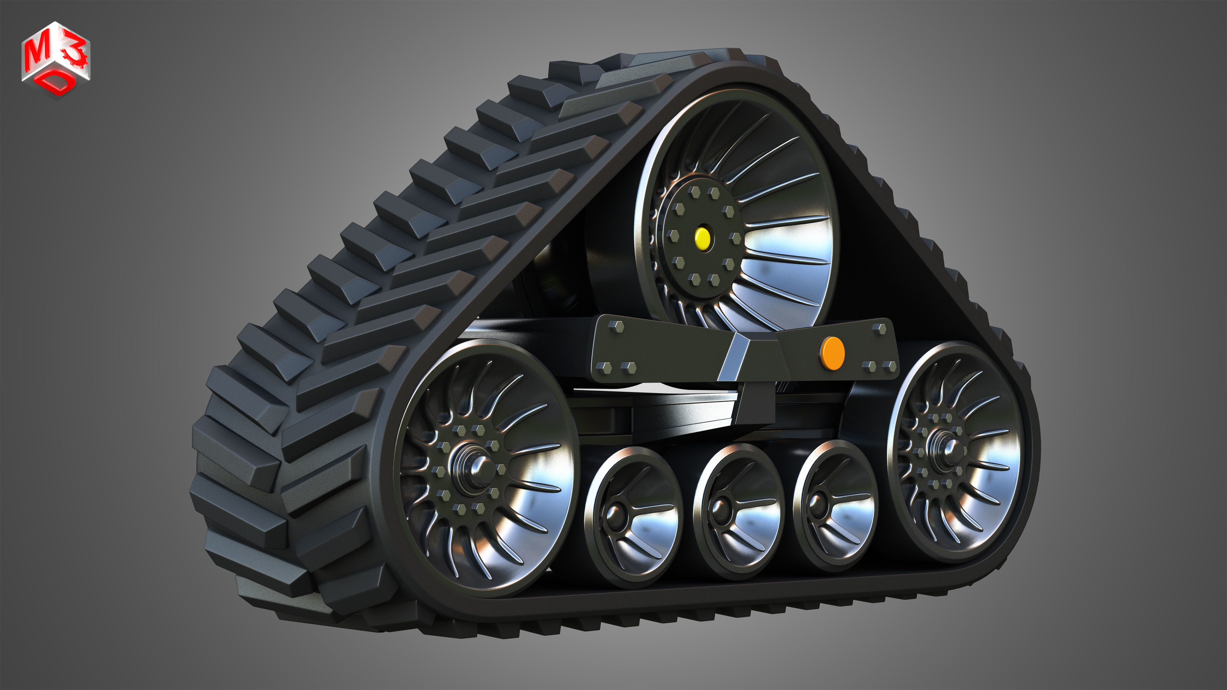 Rubber Track System 4- Combine Harvester - Crawler Tractor