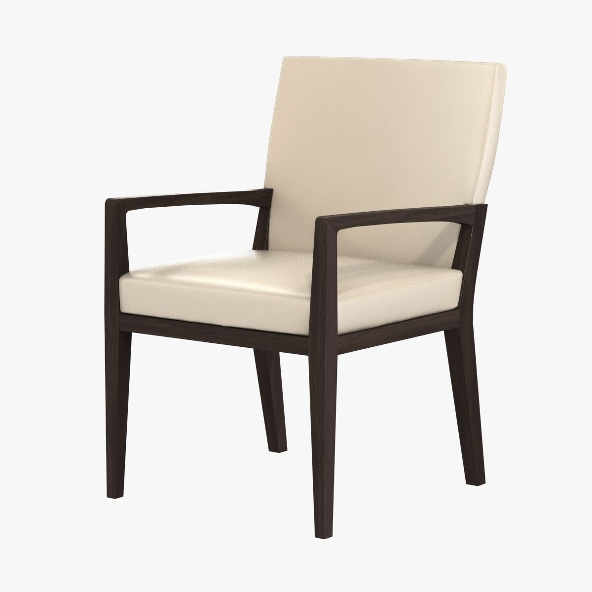 Holly Hunt Luna Dining Arm Chair 3d Model Max Obj 3ds Fbx Mtl 5