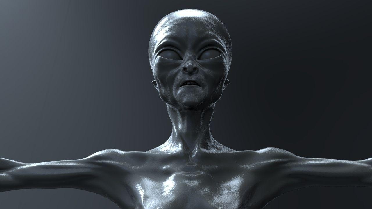 Alien Humanoid 3D Model OBJ ZTL | CGTrader.com