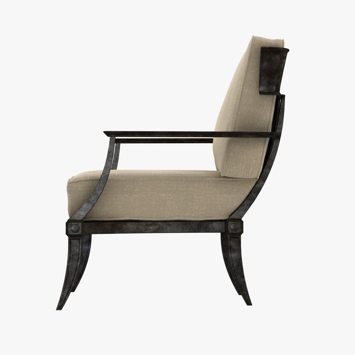 Restoration Hardware KLISMOS CLASSIC LOUNG... 3D Model ...